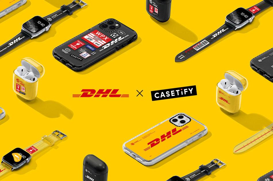 新的CASETiFY技术配件合作实验室系列庆祝DHL成立50周年