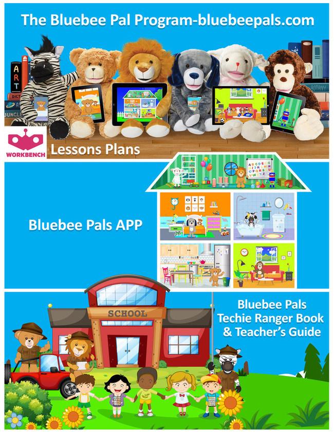 带有伴侣应用程序的Bluebee Pals交互式毛绒学习工具