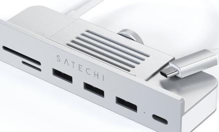 Satechi的24英寸M1iMacUSB-C夹USBASD卡插槽到苹果的多合一